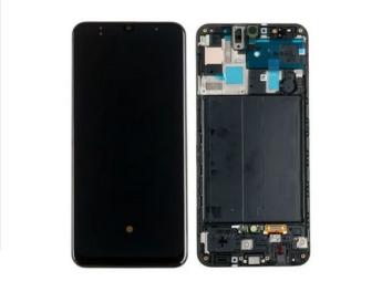 Display Lcd Tela Touch Frontal Galaxy A50 A505 Original Com Aro