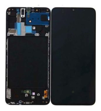 Touch Display Lcd Frontal Samsung Galaxy A70 A705 Com Aro