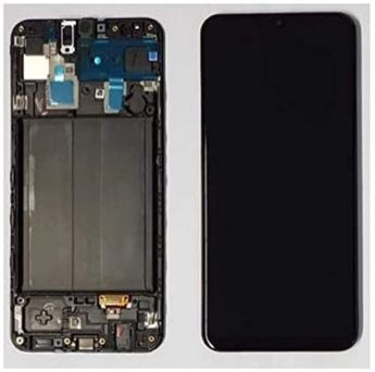 Display Lcd Tela Touch Frontal Galaxy A50 A505 Incell Com Aro