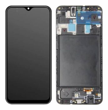 Display Frontal Touch Lcd Samsung Galaxy A20 A205 Oled Com Aro