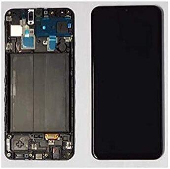 Display Lcd Tela Touch Frontal Galaxy A30 A305 Preto Original Com Aro