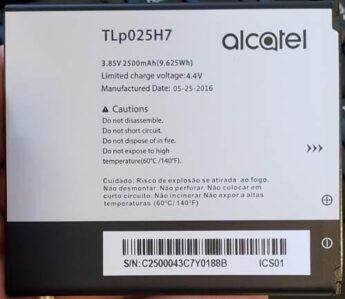 Bateria Alcatel 5051J TLP025H7